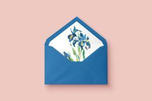 invitacion de boda floral lirios