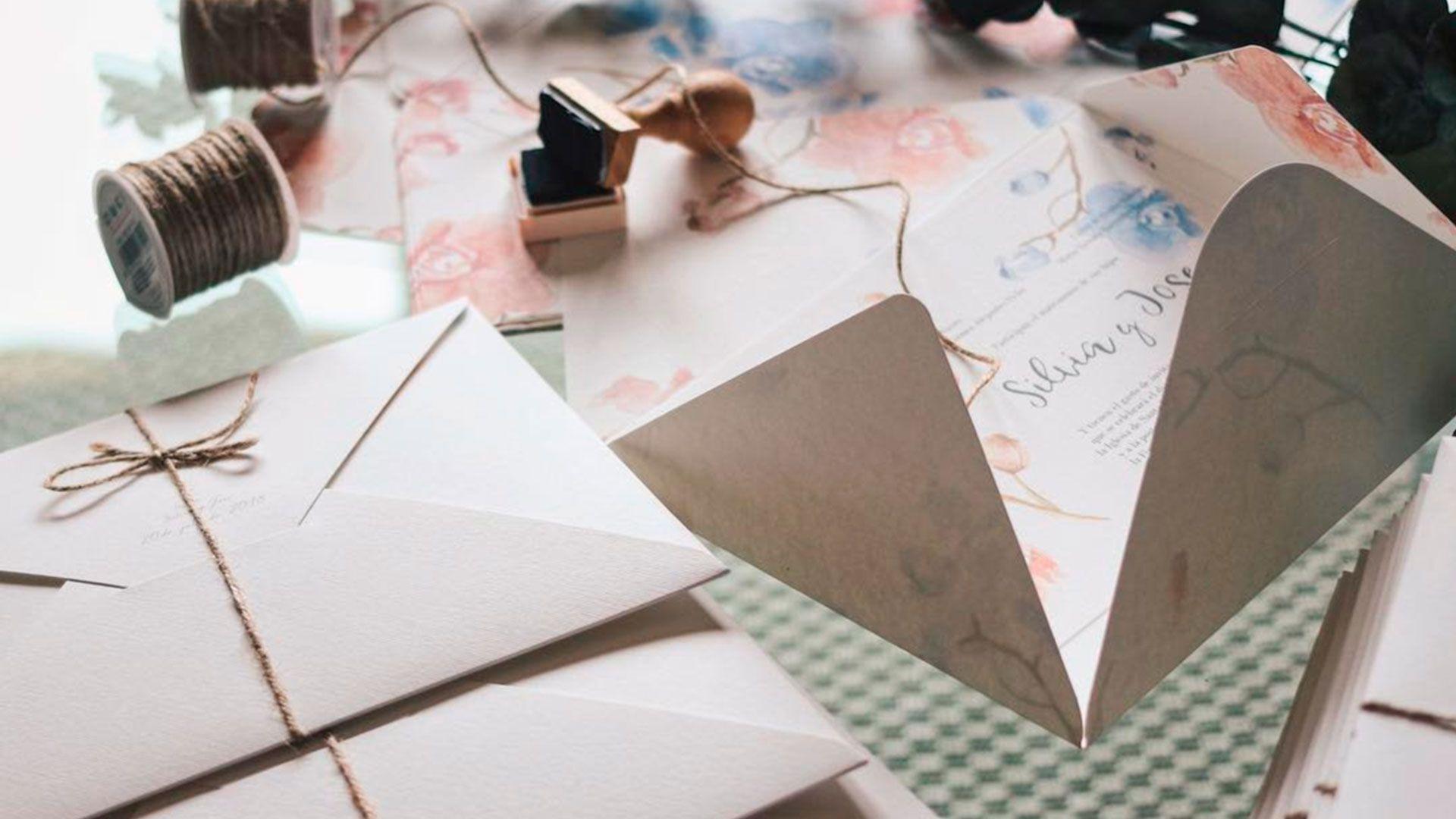 invitacion de boda para silvia benito personalizada con acuarelas realizadas a manio