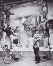 Pensar que podia(mos) ter estado lá a ver tudo isto!!! Nightmare_of_War_Dream_of_Peace Mural Diego Rivera 1952.png Poor Diego! If only he knew the truth of Communism! We, few Vera artists are here having learned so much and able to set the journey back on trails.... but for that an inner religio revolution is necessary... And non-comunims before it, wasn't much better either, of course. It's all to read in Swedenborg, although it's very interesting to read a passage in which he mentions to violence of spanish colonialists :) But he wasn't aware at all of the violence of the north european colonialists ... !!! This is how human beings are: he knew so much so much of himself and his observation, but not everything, of course. Why should he? We are all like that.