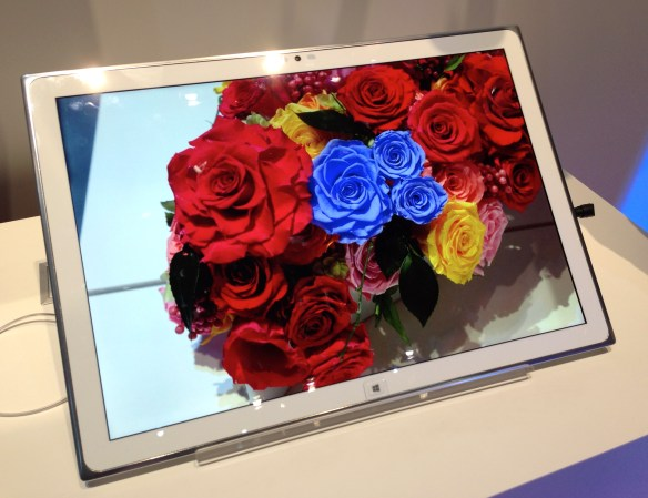 Panasonic 4K Tablet with sRGB color gamut at CES 2013