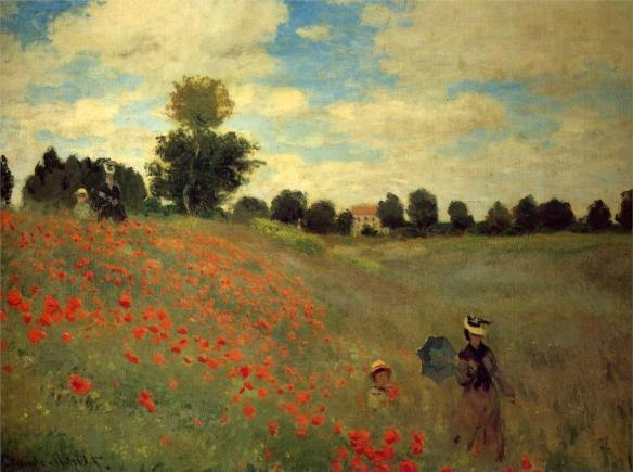 Monet's The Poppy Field, near Argenteuil