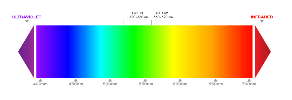 Spectrum of Green and Yellow