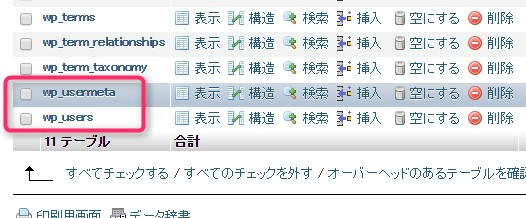 Wordpressで管理者権限ユーザーのIDやパスワードをphpmayadminから追加する