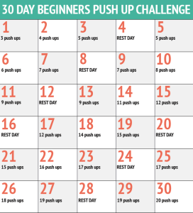 30-day push up challenge,