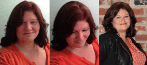 weight loss hairstyle makeover, new hairstyle weight loss reward, celebrate weight loss hairstyle