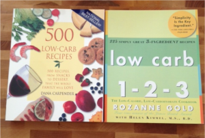In with the new! I picked up 2 new cookbooks for my collection. Finally some low-carb recipes!