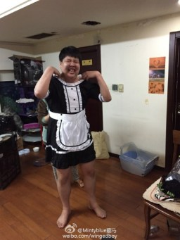 ChuaN (IG) showing off his maid costume