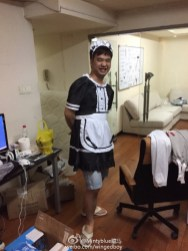 Maid Luo (IG) is behind on chores, considering the mess