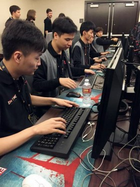 EHOME sets up for first game of the TI5 Group Stage