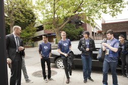 Evil Geniuses, arriving at the KeyArena for TI5