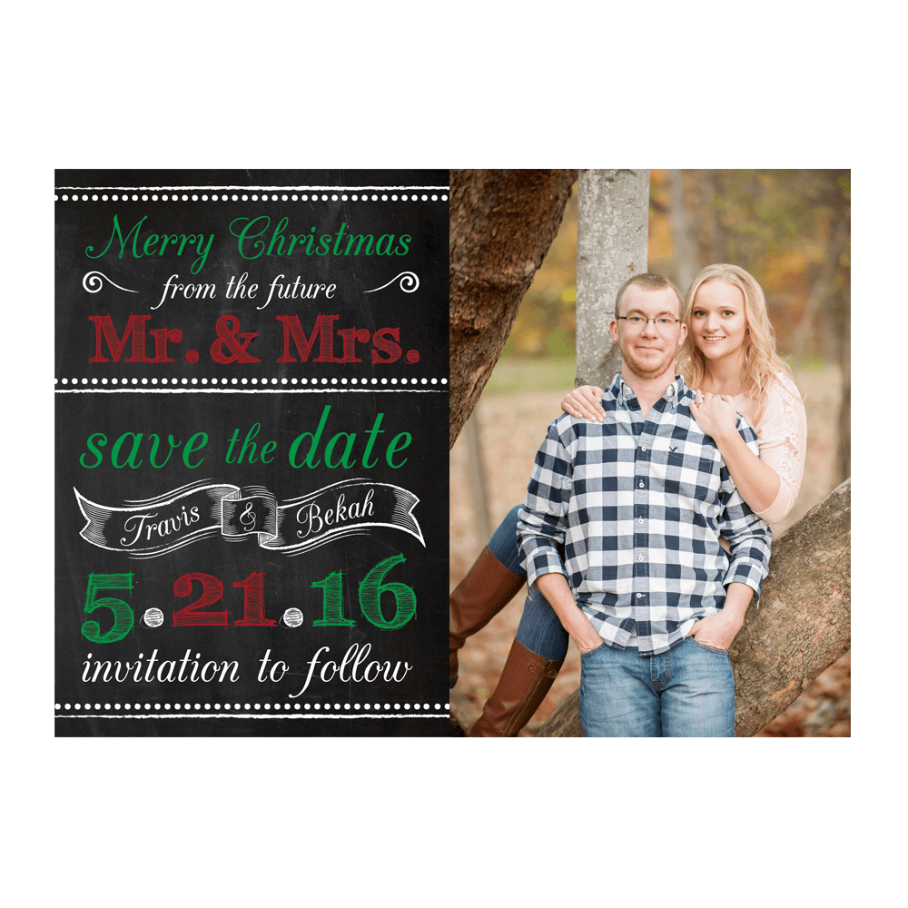 Merry Christmas From The Future Mr Amp Mrs Save The Date