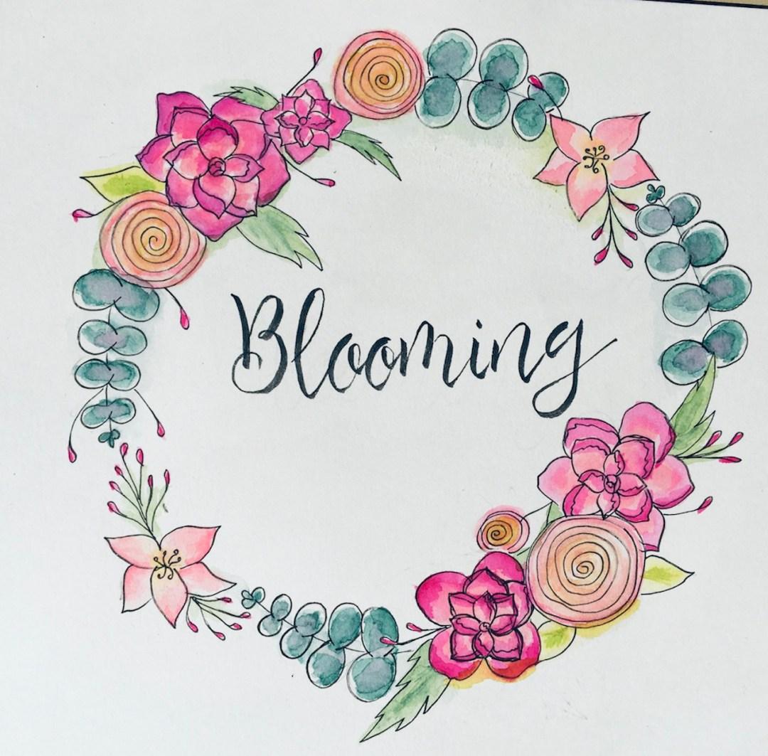 watercoloring-blooming