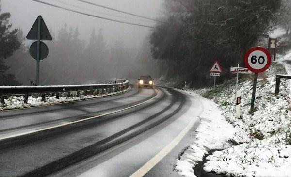 Imagen de una de las nevadas del año pasado FOTO: dotb.eus