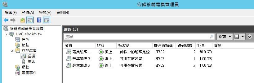 Windows Server 2012 R2 新增叢集共用磁碟(CSV)   Jerry_IT資訊技術手札 - 2010~2016 MVP - 點部落