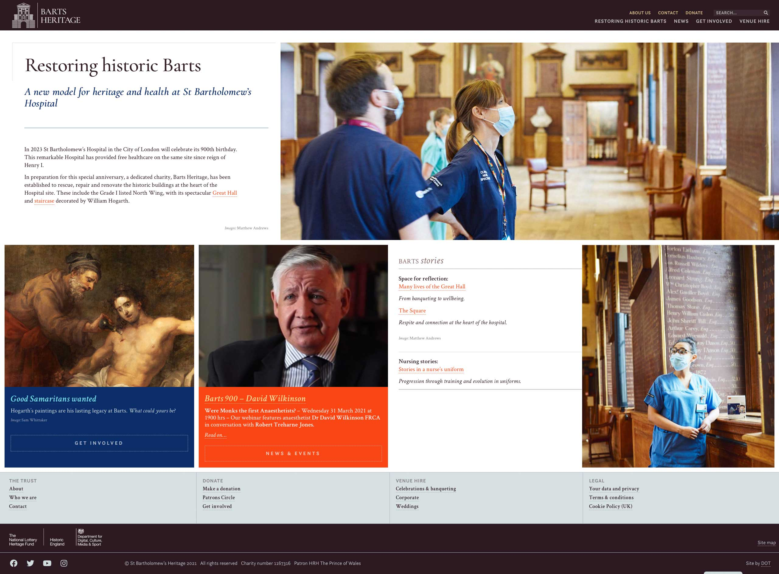 Barts Heritage website – home page