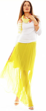 Neon Colored Skirt - Summer 2013 Trends