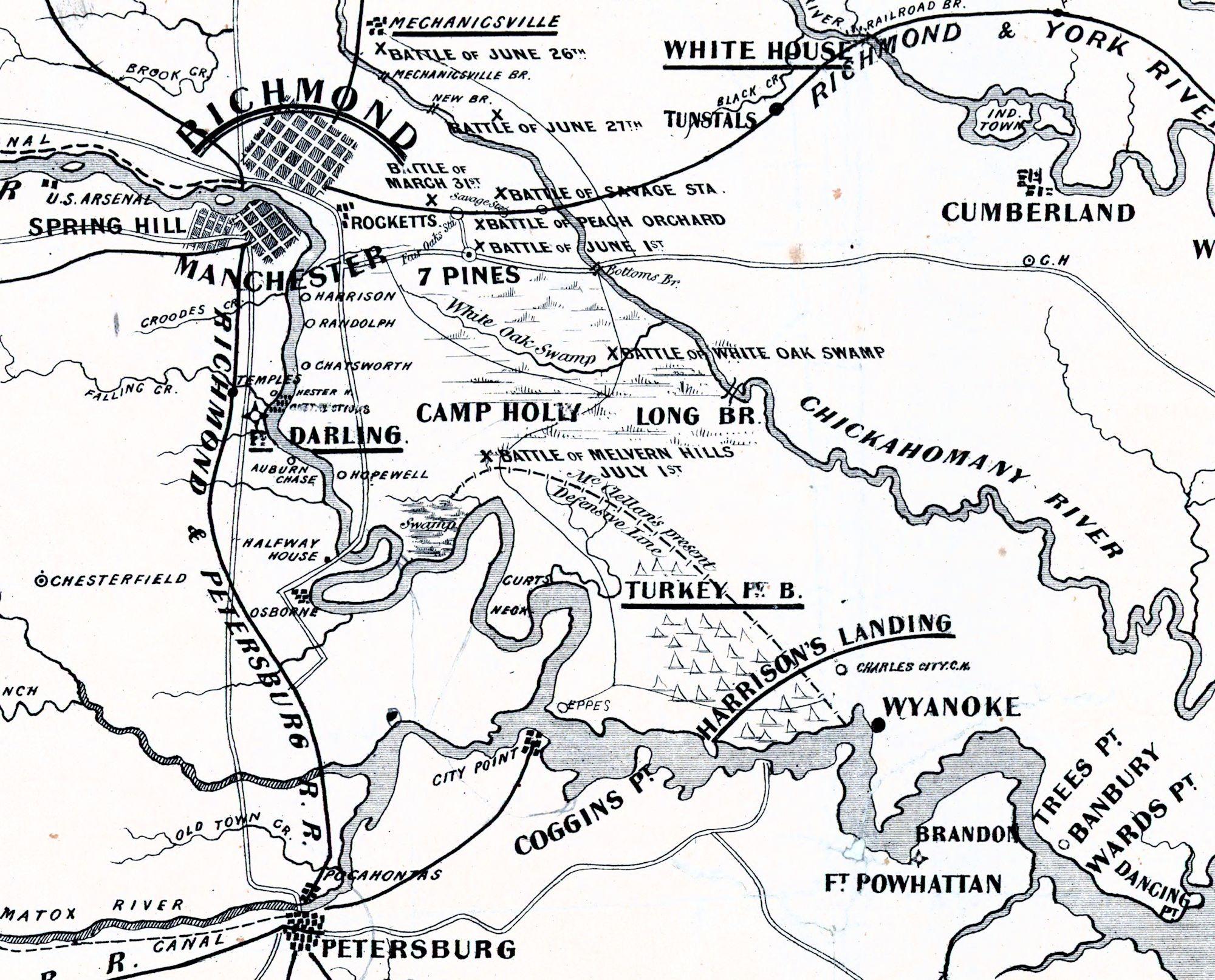 Map Of The Battle Ground Near Richmond