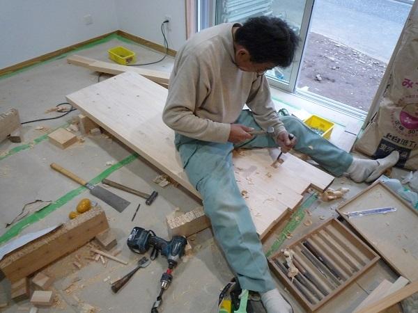 家具造り ホゾ穴