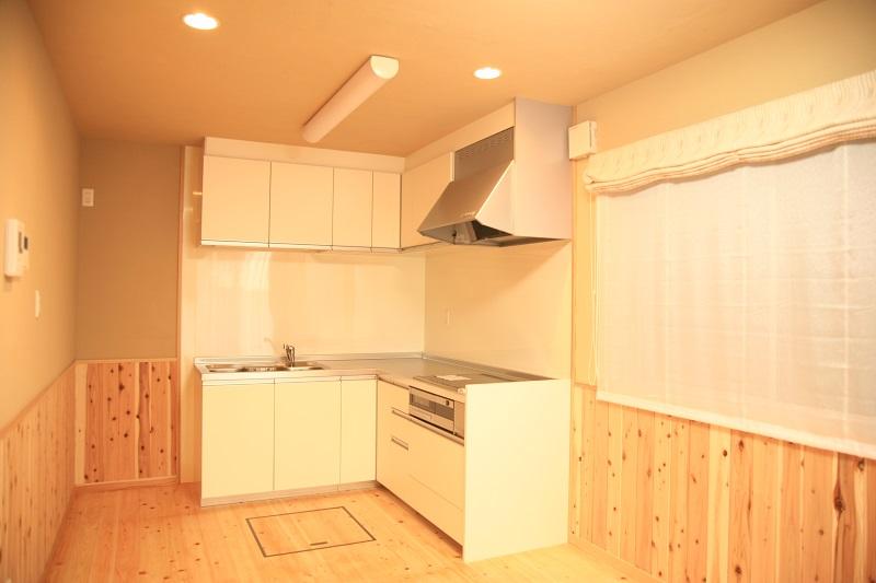 L型配置のキッチン