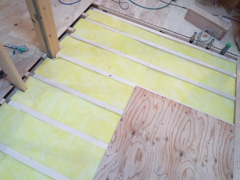 床用高性能グラスウール断熱材