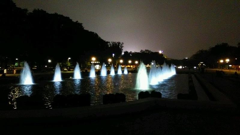 上野公園のライティング