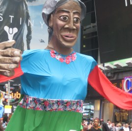 9/21/14 New York, NY - A float representing Mother Nature at the People's Climate March.