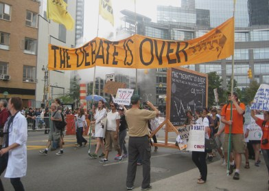 9/21/14 New York, NY - Scientists join the People's Climate March in demonstration of the overwhelming scientific consensus behind climate change.