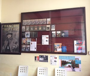 Movie posters, DVDs, books and cinema publications.