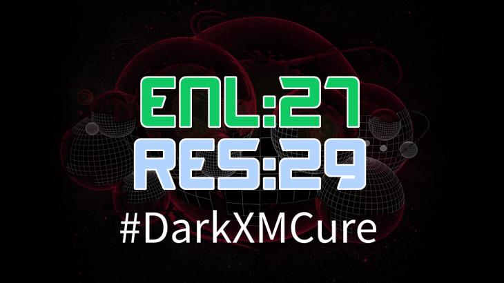 #DarkXMCure 前半戦の結果。ENL:RESは「27:29」。Phase2開始前にしてENLは早くもピンチ
