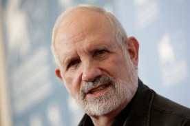 Director Brian De Palma poses at the photo call of the film 'Passion' at the 69th edition of the Venice Film Festival in Venice, Italy, Friday, Sept. 7, 2012. (AP Photo/Andrew Medichini)