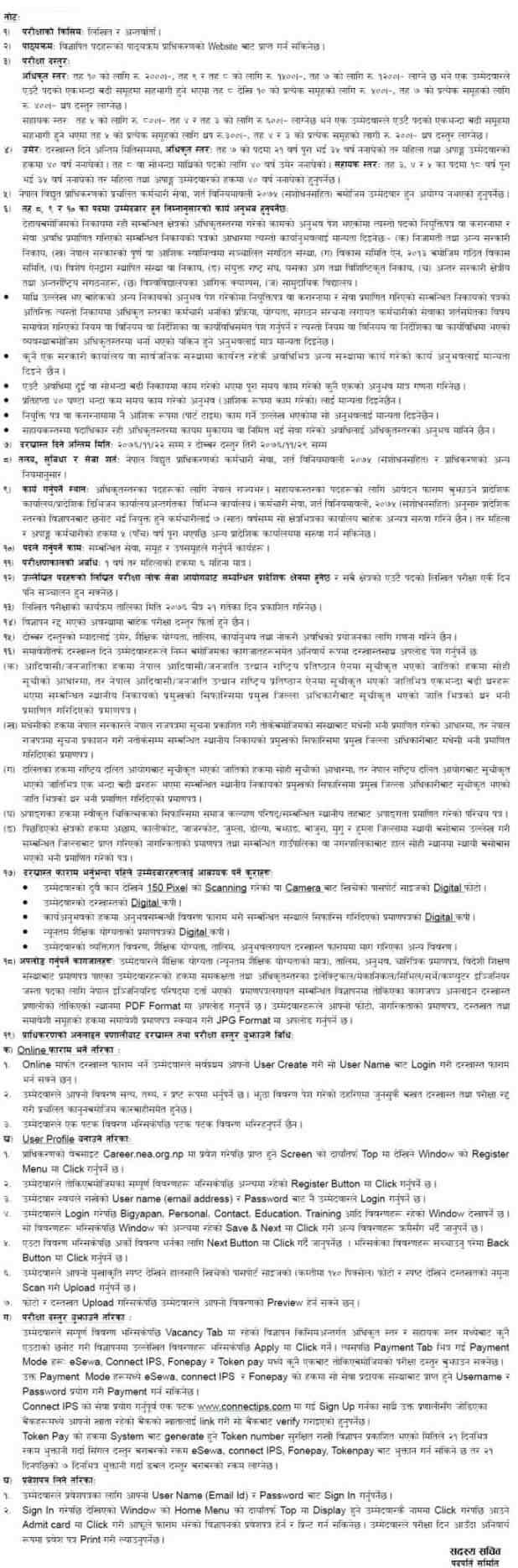 Nepal Electricity Authority job