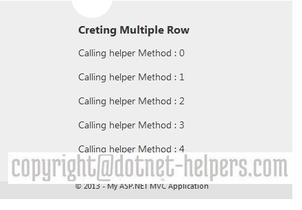 reuse helper method in MVC - dotnet-helpers