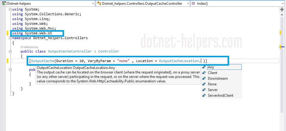 output Cache Attribute in MVC - dotnet-helpers