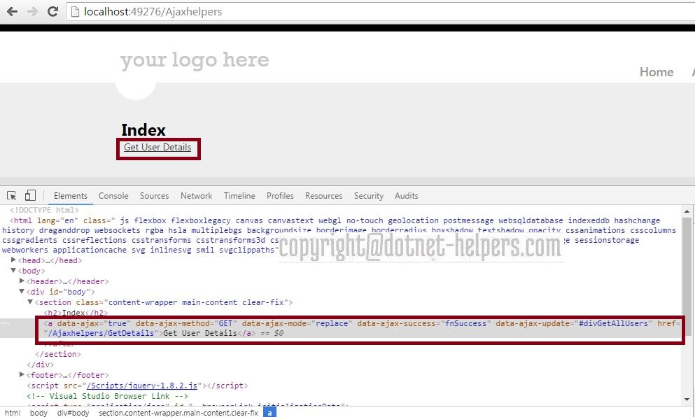 Ajaxhelper-dotnet-helpers