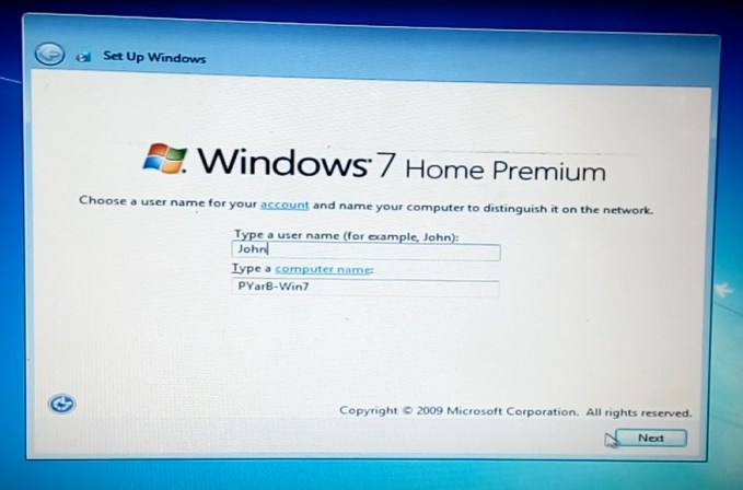 Installing Windows from USB