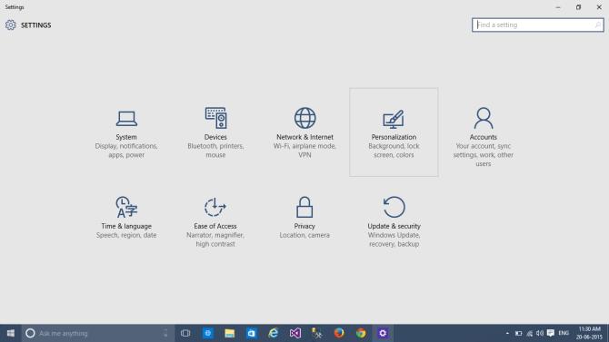 Change Start Menu - Personalize Windows 10