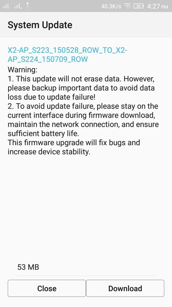 Lenovo Vive X2 AP Software Update