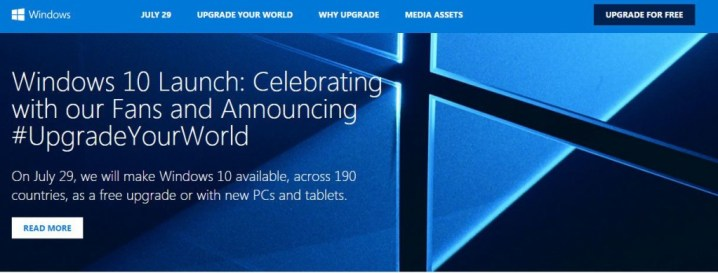 Windows10LaunchWebsite
