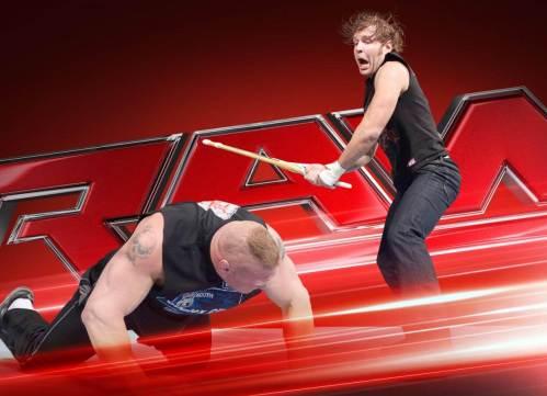 Dean Ambrose and Brock Lesnar (c) WWE