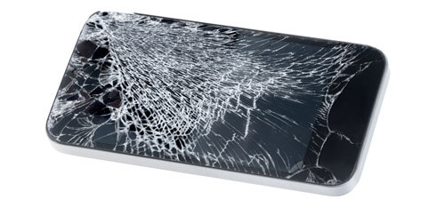 Shattered / cracked display phone without Gorilla Glass 4