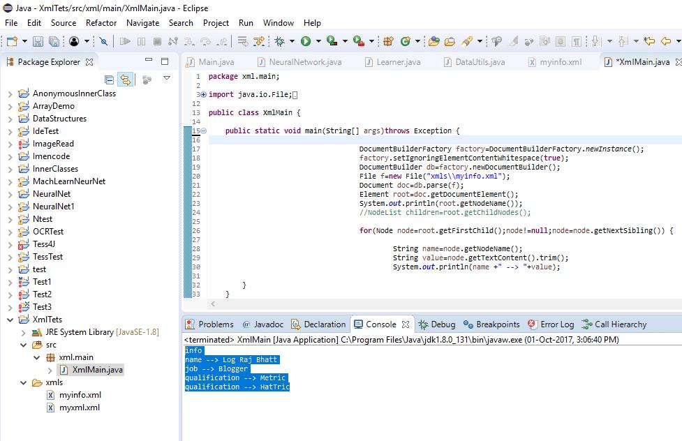 Output Validating XML