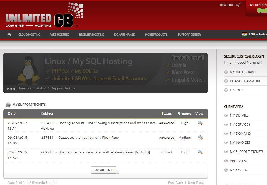 SCAM - UnlimitedGB Web Hosting 1