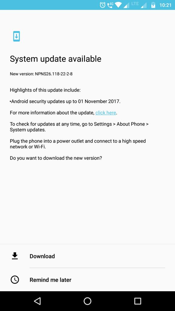 Software Update for Moto Z Play - NPNS26.118-22-2-8 2