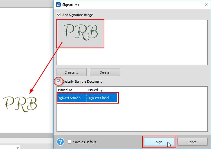 Able2Extract Professional 14 - Sign PDF