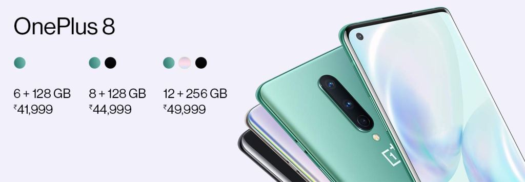 Official Price of OnePlus 8 in Indian Currency