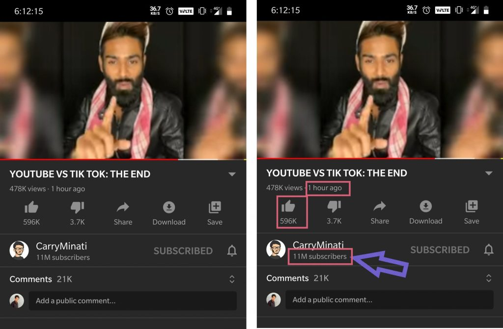 YouTube vs TikTok: The End Stats after 1 hour