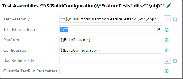 VSTS/TFS Visual STudio Test Task – Filter Criteria – DOTNET