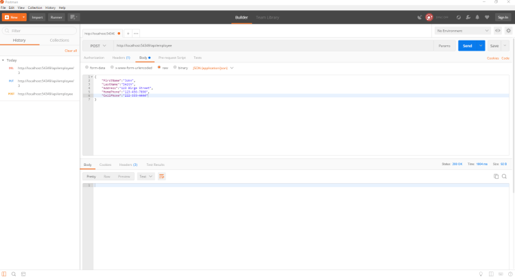 ASP Net Core Web API - Dapper Integration for database
