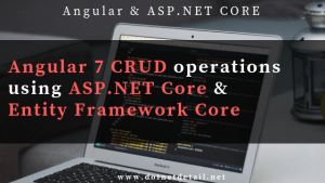 Angular 7 CRUD with web API using Asp.Net Core