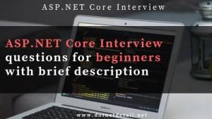 asp.net core interview questions
